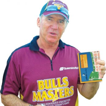 Allan Border,  former Australian cricket captain, with Adlink Media drive map